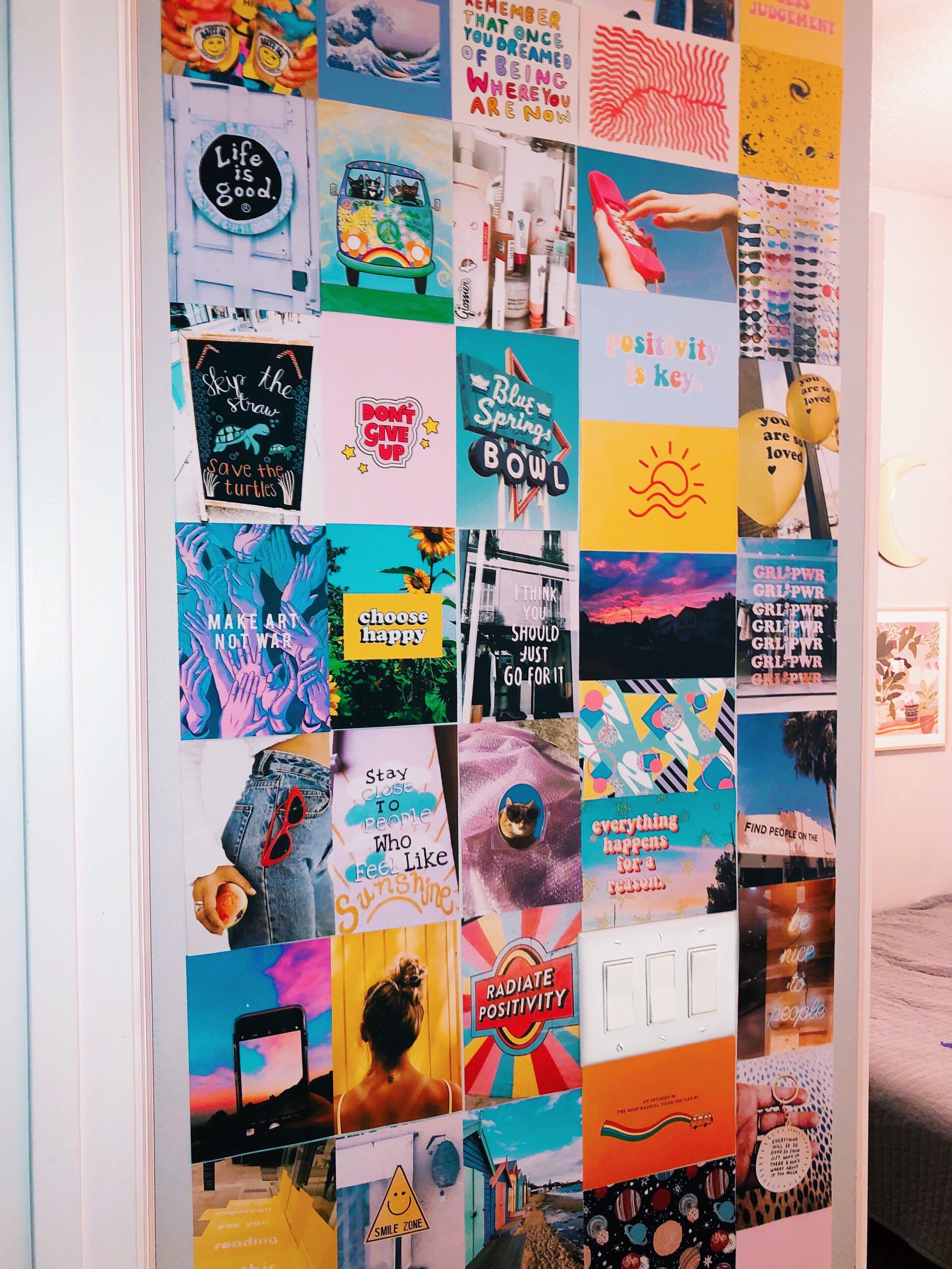 pinterest @kellydianee ???? #wallcollage | Wall collage ... on Room Decor Ideas De Cuartos Aesthetic id=40417
