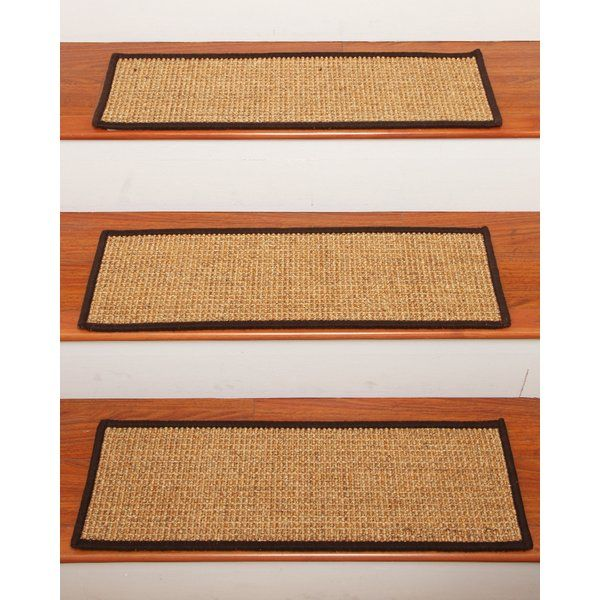 Best Godinez Stair Tread Set Of 13 Natural Area Rugs Stair 640 x 480