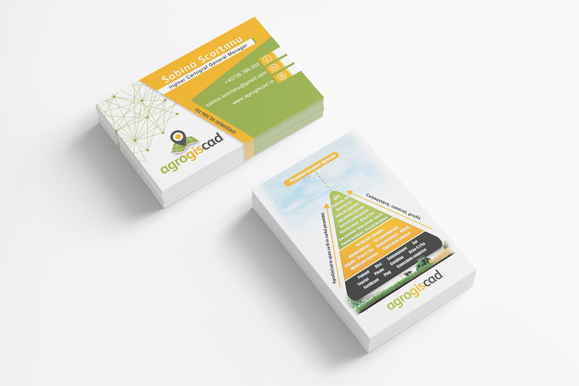 agro gis cad business cards corporate identity