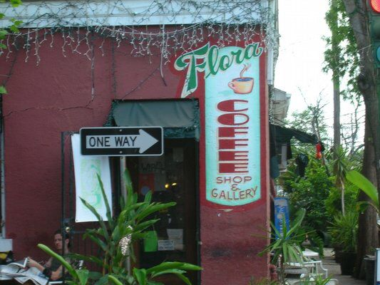 Flora's coffee and gallery in Louisiana