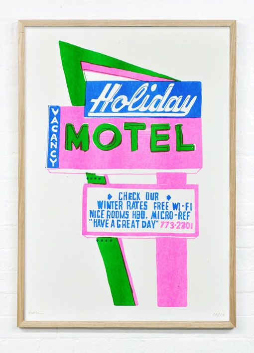 Motel prints from Holly Wales.