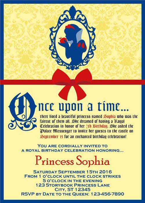 photo relating to Snow White Invitations Printable named Snow white invites