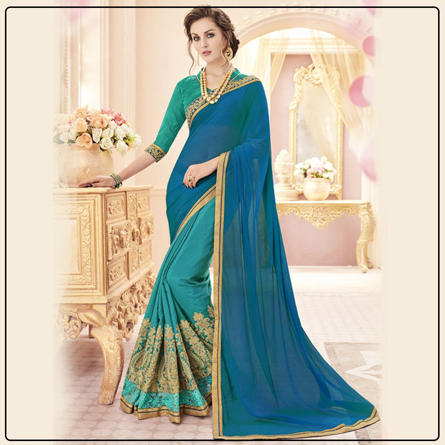 In what style would you wear this beautiful saree comment below and