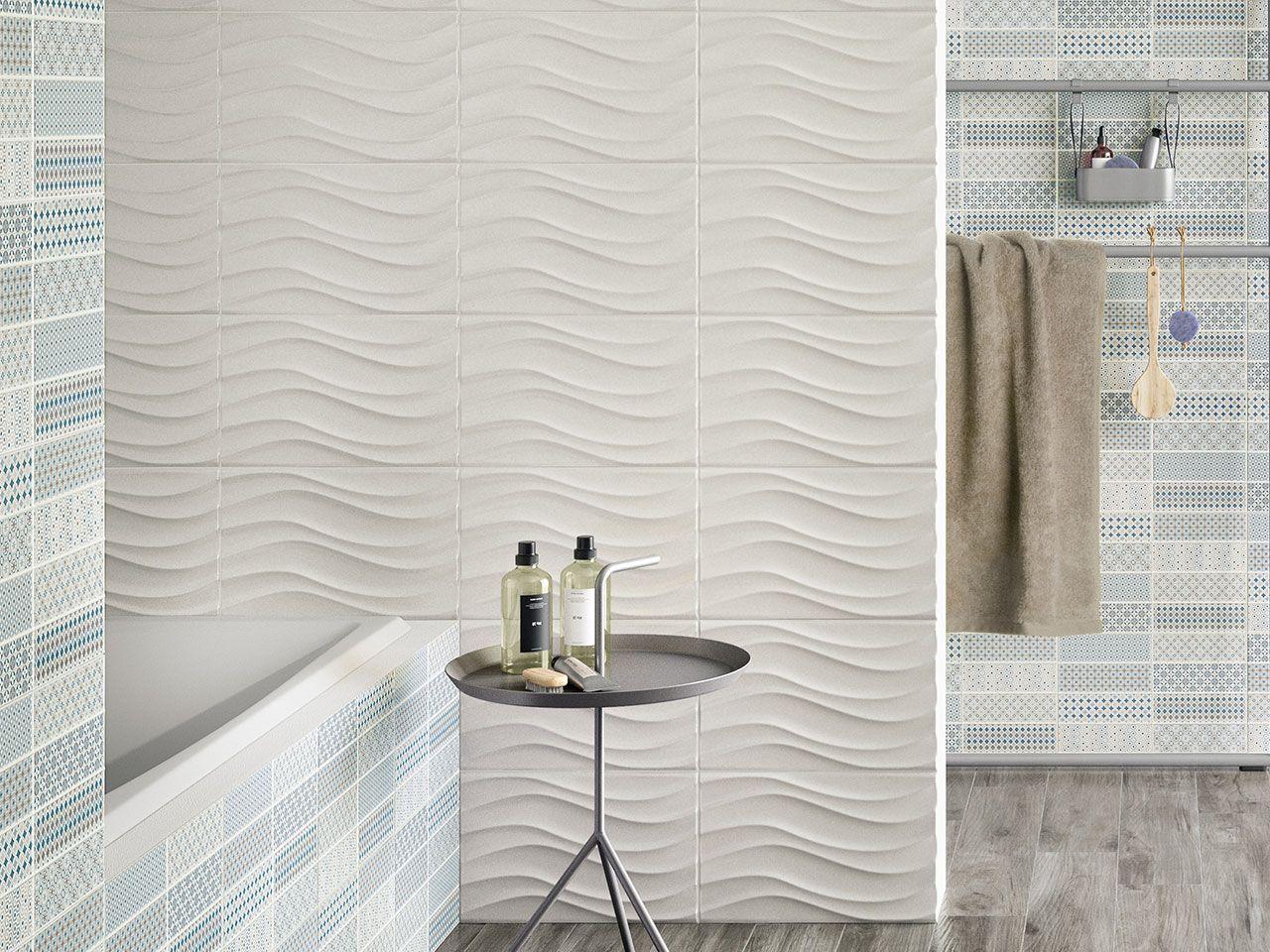 Rivestimento bagno in bicottura serie pattern wave dimensioni