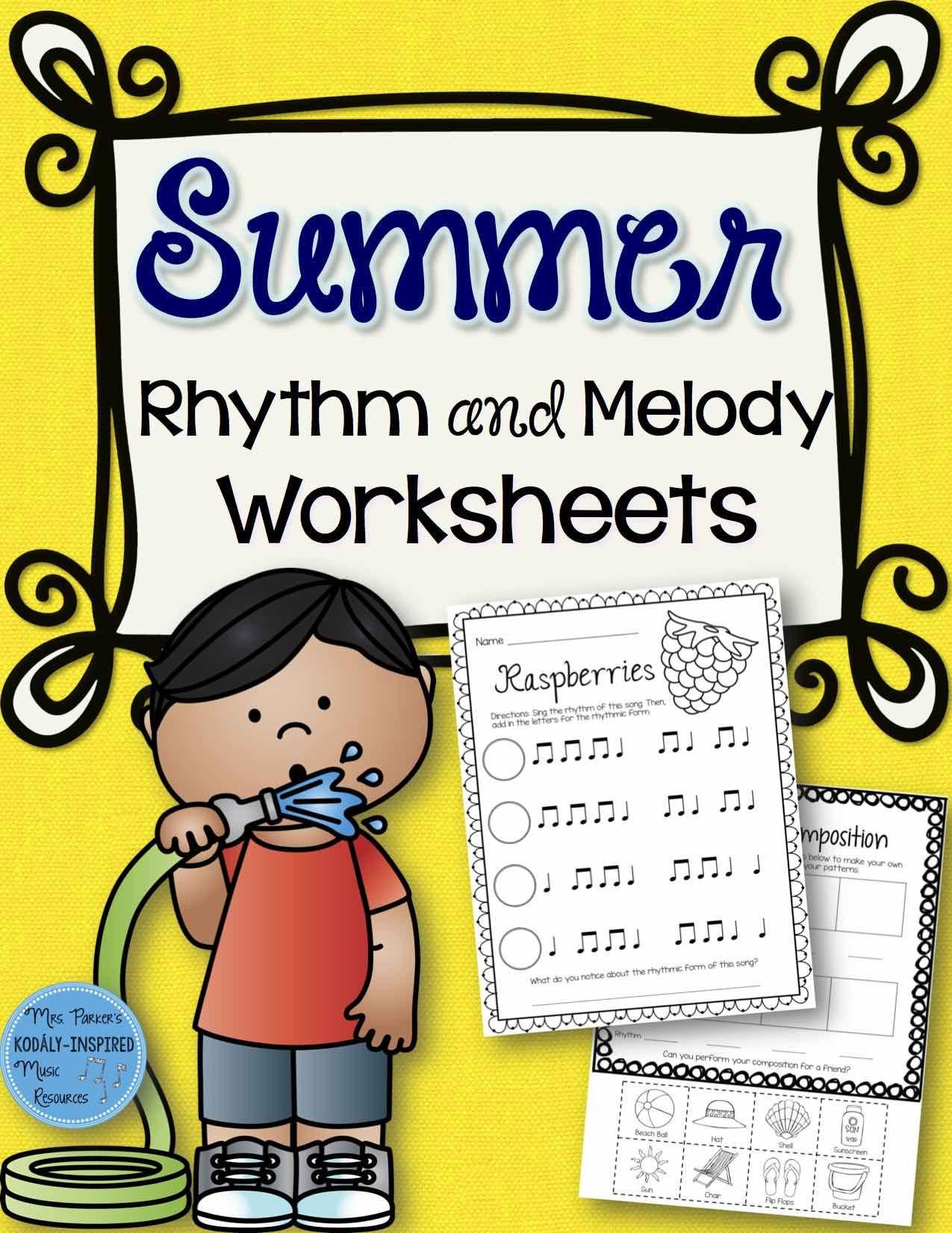 Summer Rhythm And Melody Worksheets