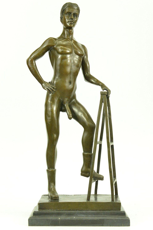 European Bronze Sculpture Nude Male Man Gay Art