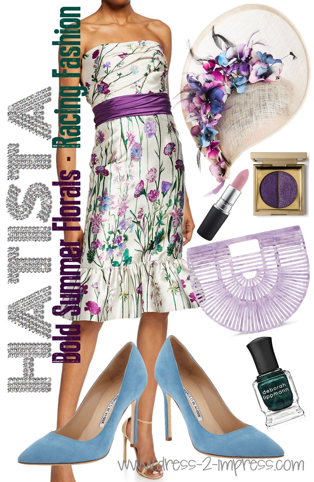 Kentucky Derby 2020 Fashion.Graphic Floral Print Dresses Are Always On Trend For The