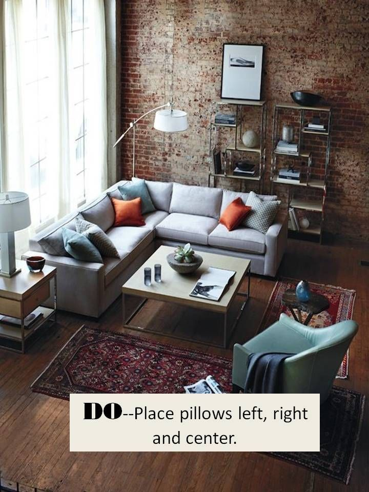 Design Guide: How To Style A Sectional Sofa. Red Brick WallsSmall RugsLiving  Room ...