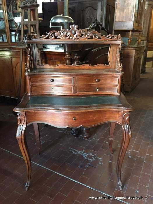 Mobili antichi scrivanie e scrittoi scrivania da signora for Scrivania con libreria ikea
