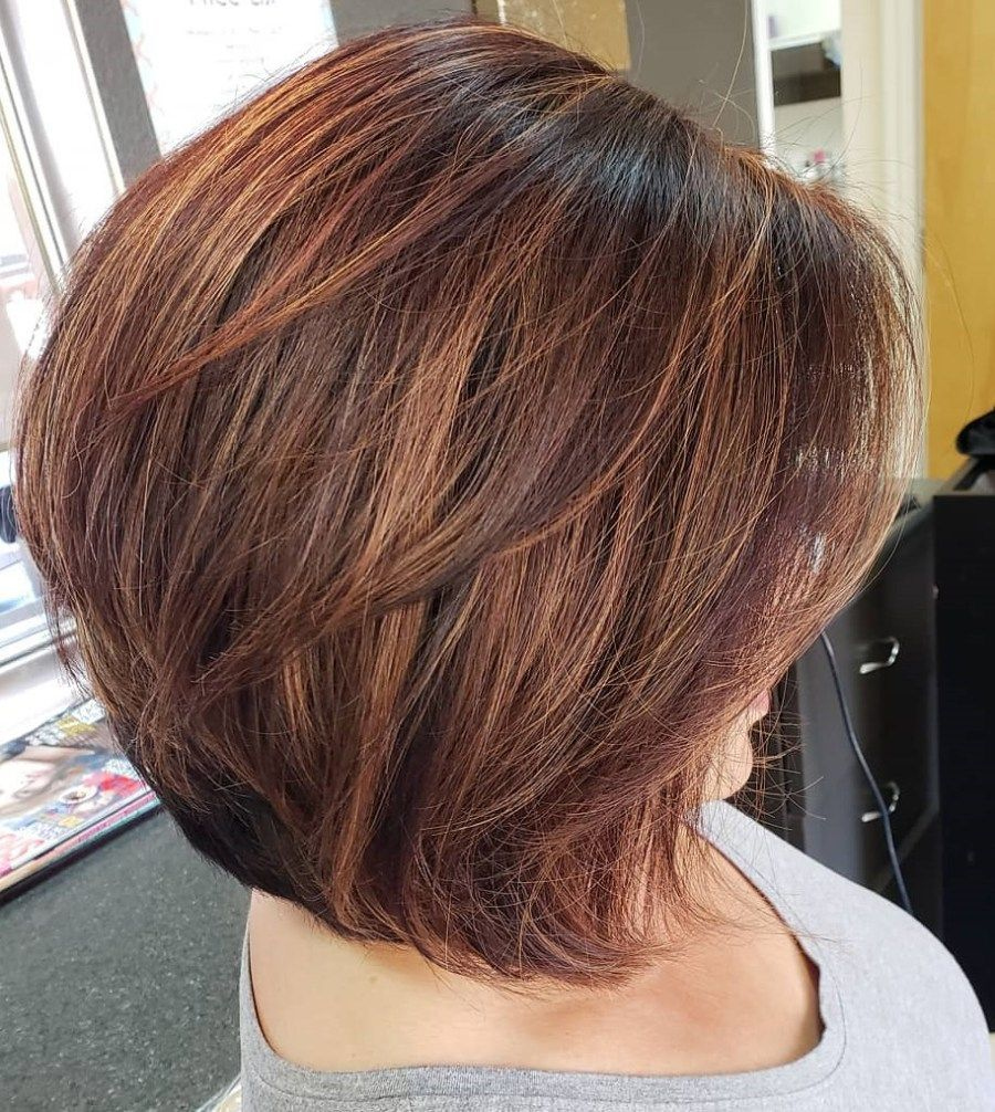 Beautiful and Convenient Medium Bob Hairstyles in   layered