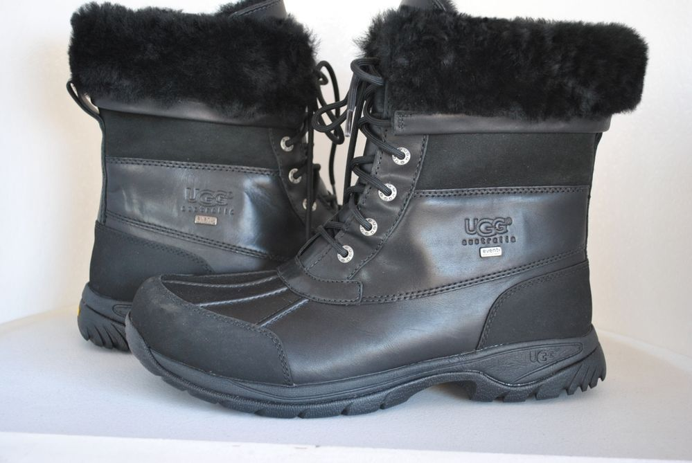 1ef16c22eb1 UGG Men's Butte Black Leather Boots 5521 U.S Size 10.5 | Stuff to ...
