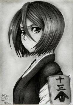 Bleach - Rukia Kuchiki new hair cut by mangaslover