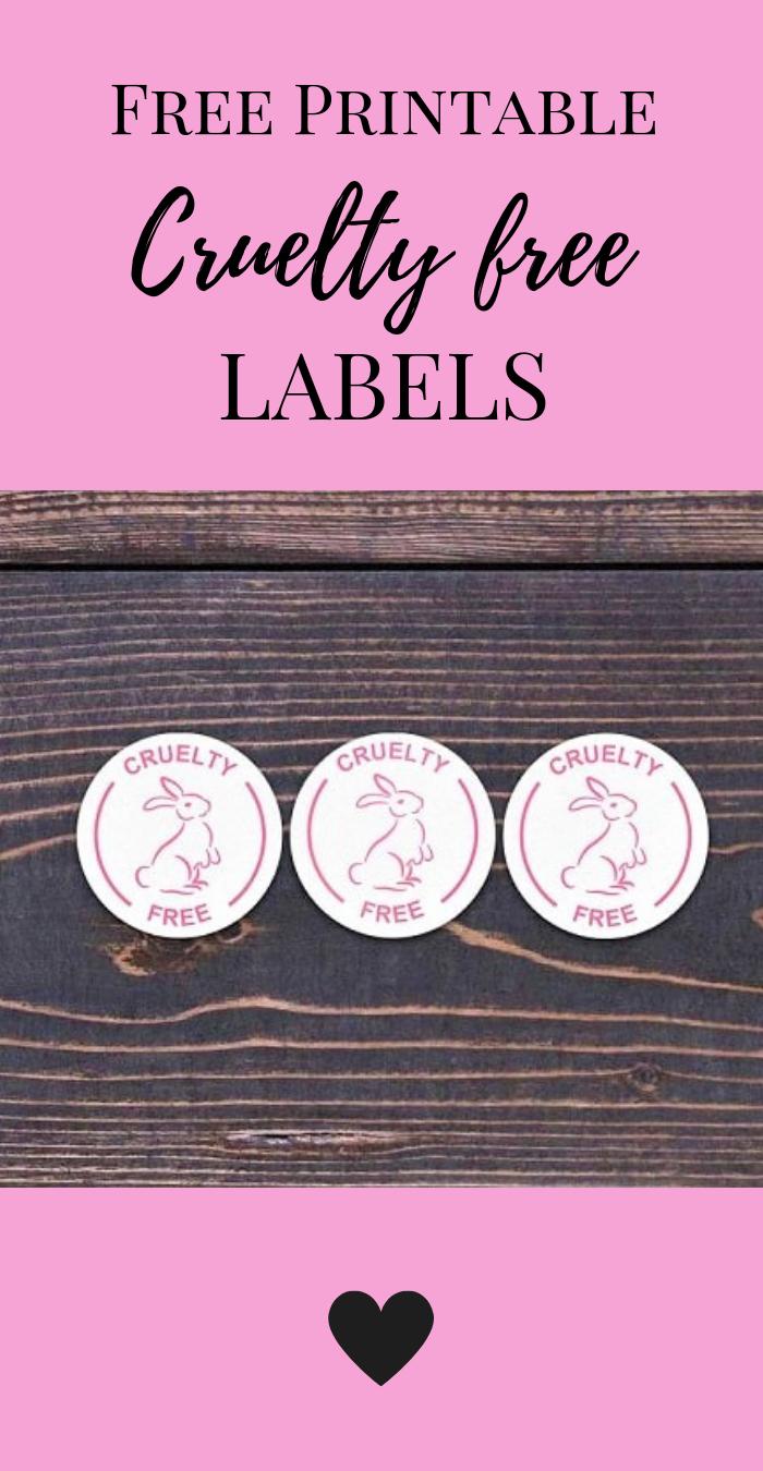 Cruelty free label free printable sticker Free