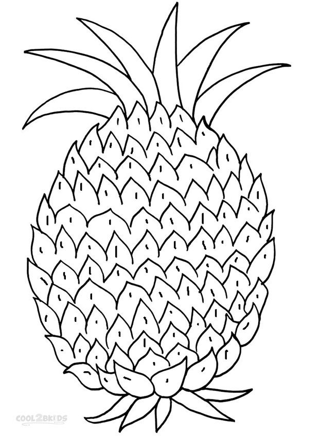 Pineapple Coloring Pages Fruit Coloring Pages Coloring Sheets