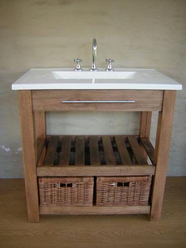 Vanitory 82 cm x 50 cm sin mesada con 2 decks 650 00 - Muebles de bano de madera ...