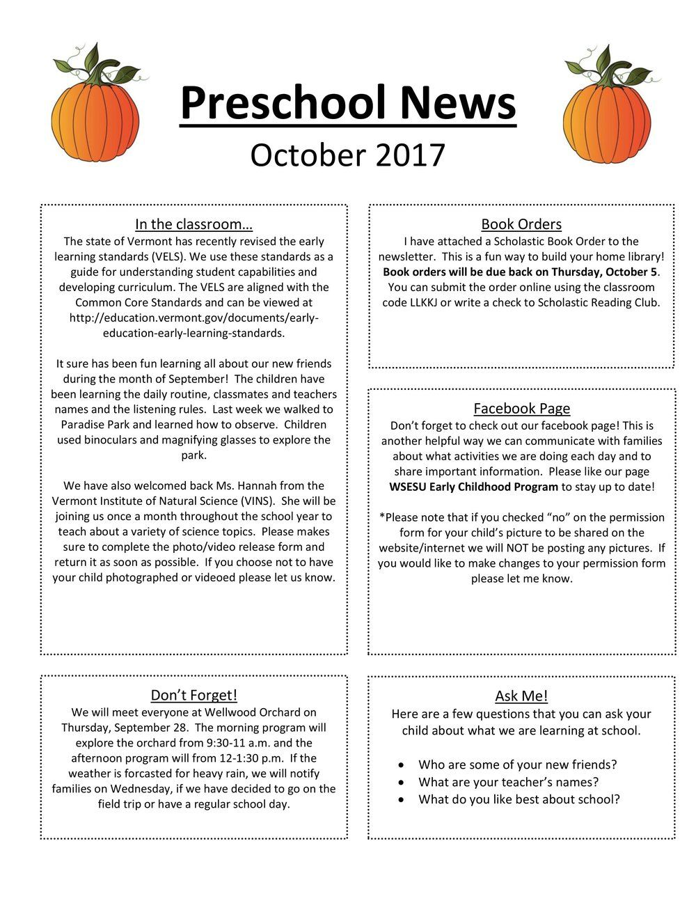 Ecp Newsletter  October