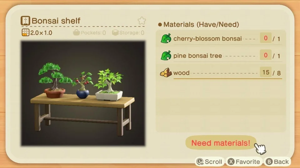 Psa To Save An Extra Cherry Blossom Bonsai Or Two For This Recipe I Just Found This Today And I New Animal Crossing Animal Crossing Villagers Animal Crossing
