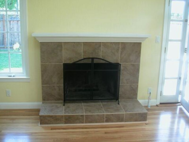 Fireplace design and Tile painting