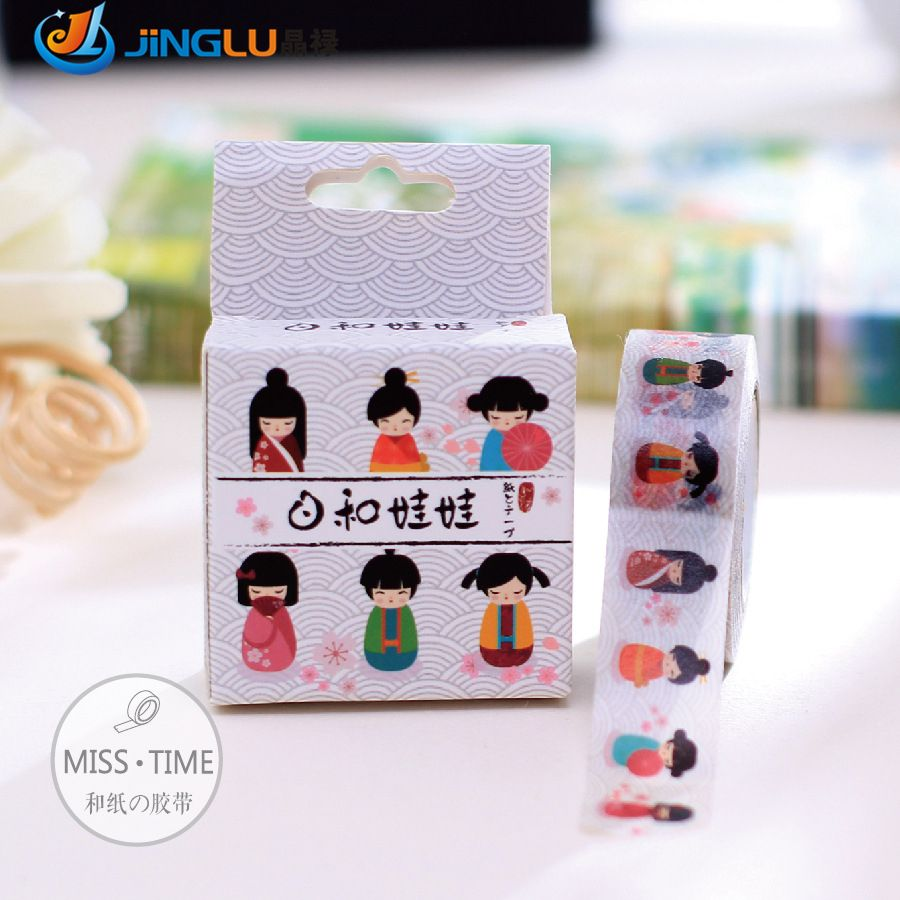 Scotch Decorative Masking Tape Washy Doll Japanese Designer Adhesive Paper Decorative Scotch