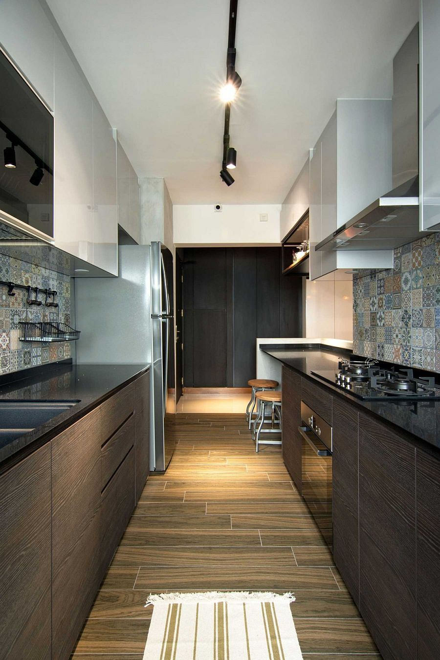 Small Contemporary Kitchen Design Inside Stylish Home In Singapore Decoist