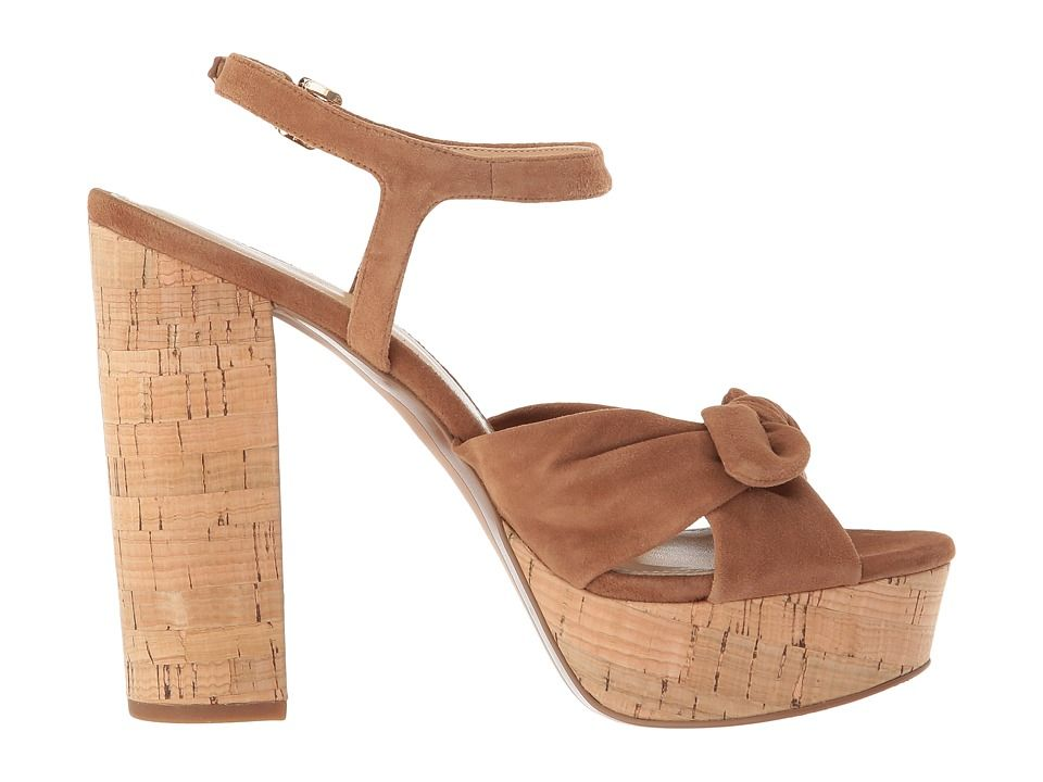 c2fc4bf4e7 MICHAEL Michael Kors Pippa Platform Women's Sandals Luggage Kid Suede/Cork