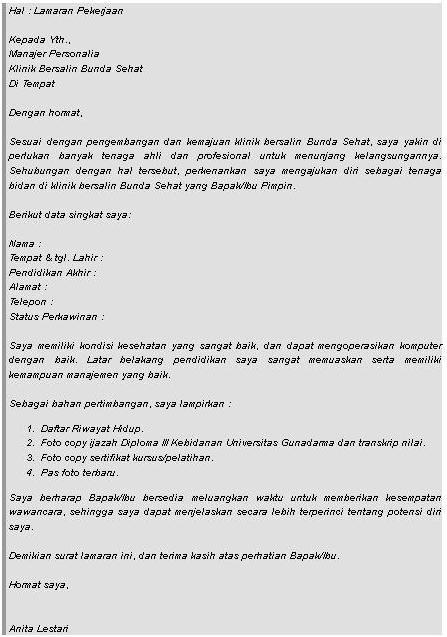 contoh cv bidan pdf