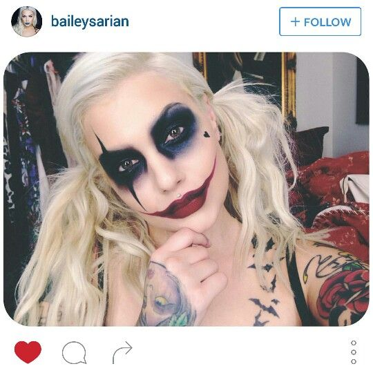 Harley Quinn Makeup by Bailey Sarian. I totally forgot about this girl since I deleted my Instagram but omg love her make up skillz!