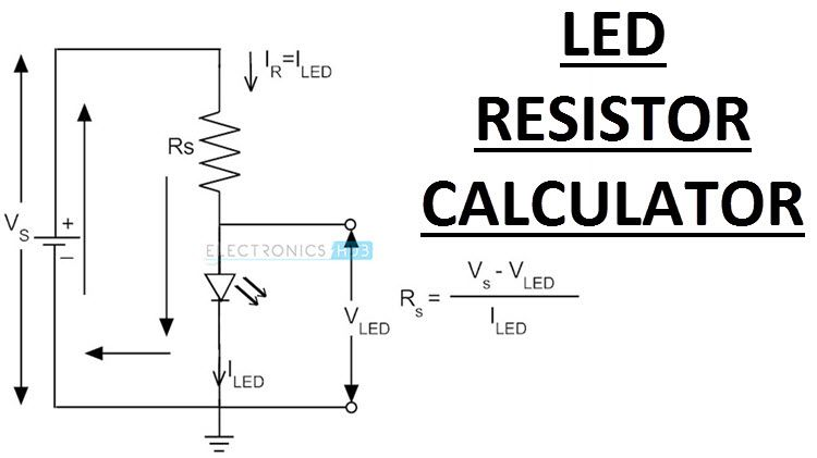 Led Resistor Calculator Need For Series Resistor Equation Example Resistor Power Dissipation Resistors Power Calculator
