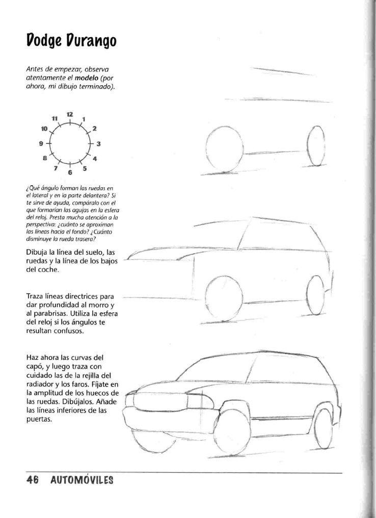 Como Dibujar Autos Paso A Paso Car Drawings Car Artwork Sketch Book