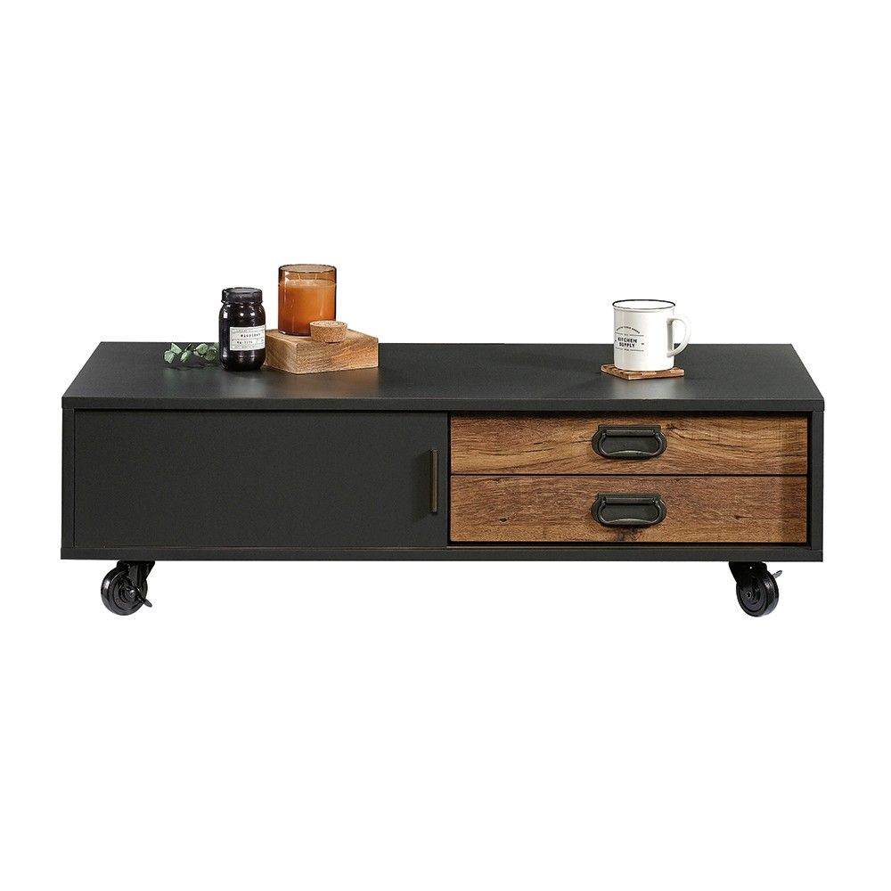 Sauder Boulevard Cafe Coffee Table Black With Vintage Oak Accents Coffee Table With Storage Coffee Table With Drawers Modern Coffee Tables [ 1000 x 1000 Pixel ]