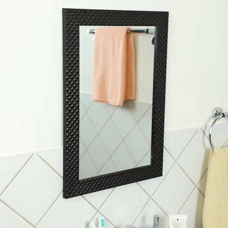 Buy Fibre Frame Wall Hanging Black Bathroom Mirror Online In India