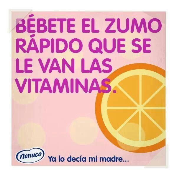 Que se le van las vitaminas...