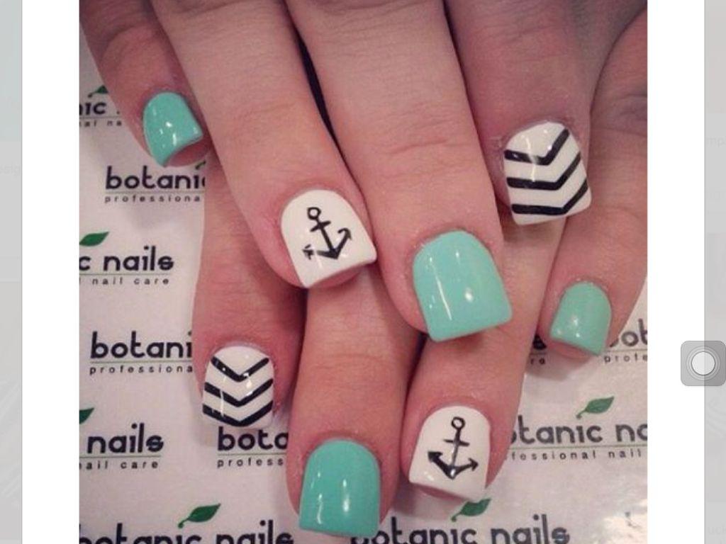 Boat Anchor Designed Nails Nail Designs Pinterest Amazing