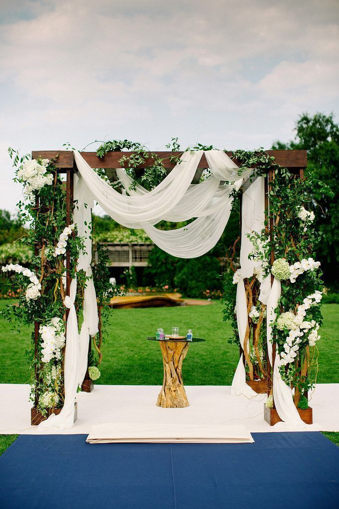 Lovely Outdoor Garden Wedding by Bliss Weddings and Events. To see more…