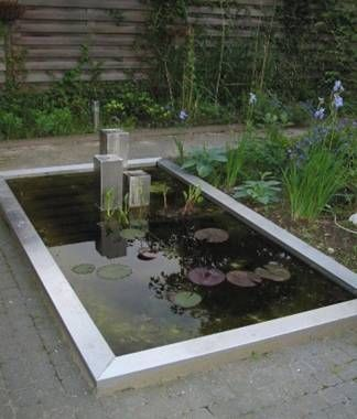 Rectangular Pond Outdoor Water Feature Pinterest Ponds