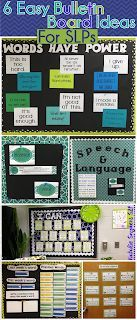 easy bulletin board ideas for slps also dabbling with speech room rh pinterest