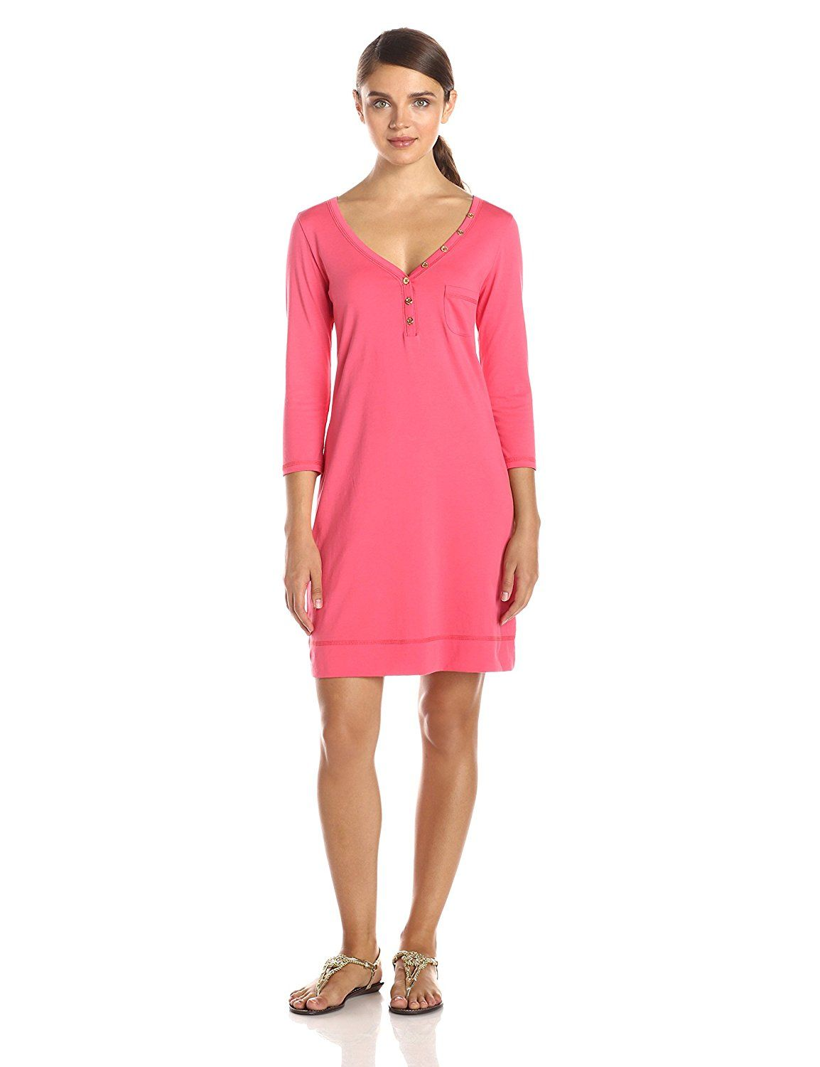 d7e1f3e0b4 Lilly Pulitzer Women s Palmetto V-Neck T-Shirt Dress -- Insider s special  review you can t miss. Read more   Women s dresses