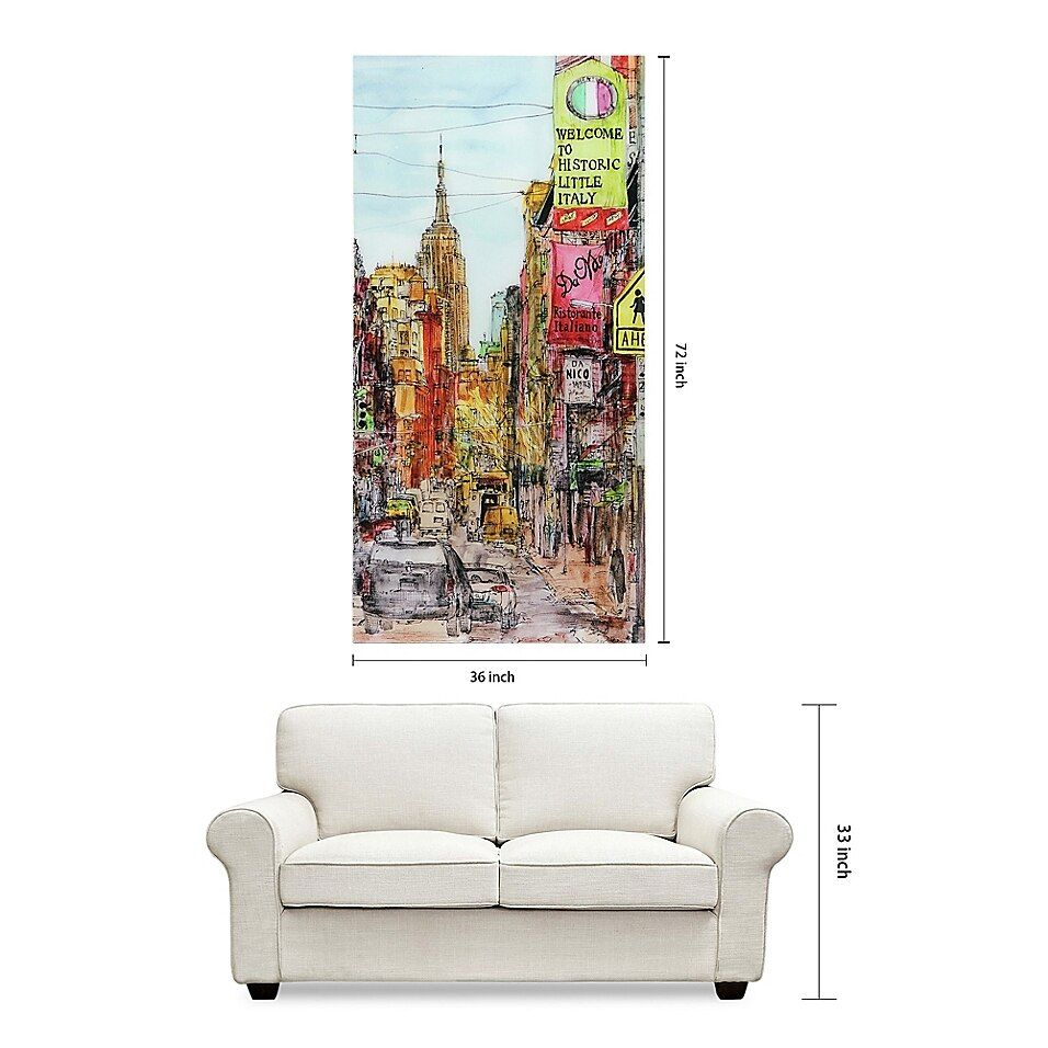 Little Italy 36 Inch X 72 Inch Glass Wall Art Bed Bath Beyond Italy Wall Art Glass Wall Art Country Wall Art