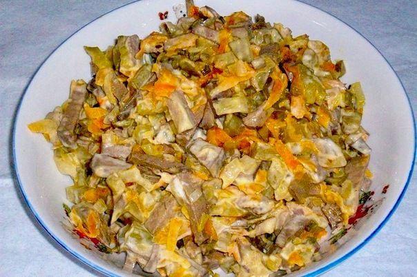 Вкусные салаты с печенью