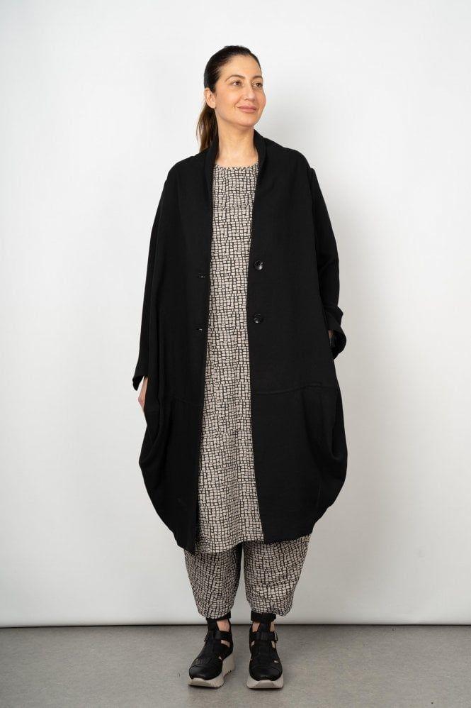 Blue Deep Border Knitted Dress | Knit dress, All black