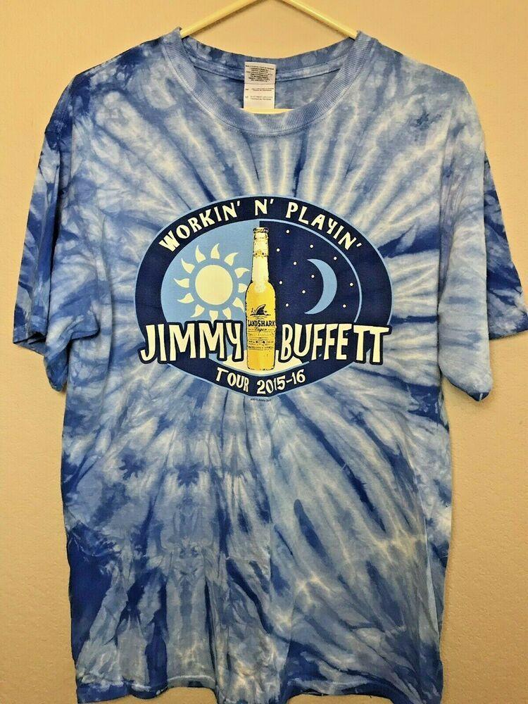Super Jimmy Buffett Medium Concert T Shirt Blue Tie Dye Workin Interior Design Ideas Skatsoteloinfo
