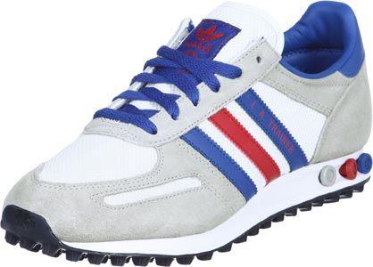 Adidas LA Trainer Textile schoenen wit rood blauw | Zapas