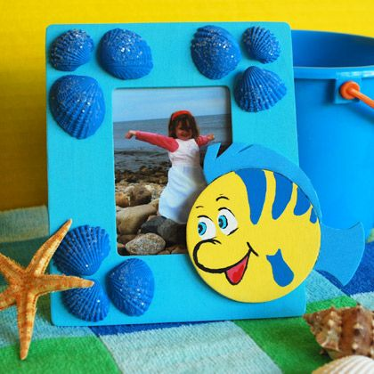 flounder photo frame crafts spoonful