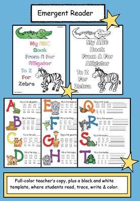 Animal Activities: FREE emergent reader animal-themed alphabet booklet.