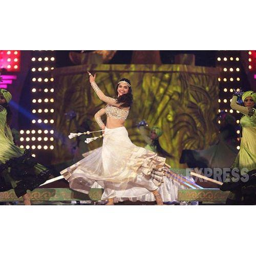 Buy #DeepikaPadukone White Ramleela Lehenga online ...