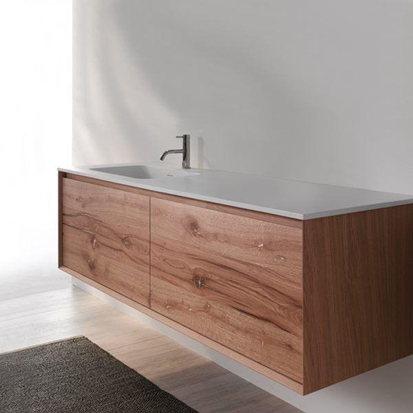 45 Degree 55 Inch Wall Mounted Vanity Set Floating Bathroom