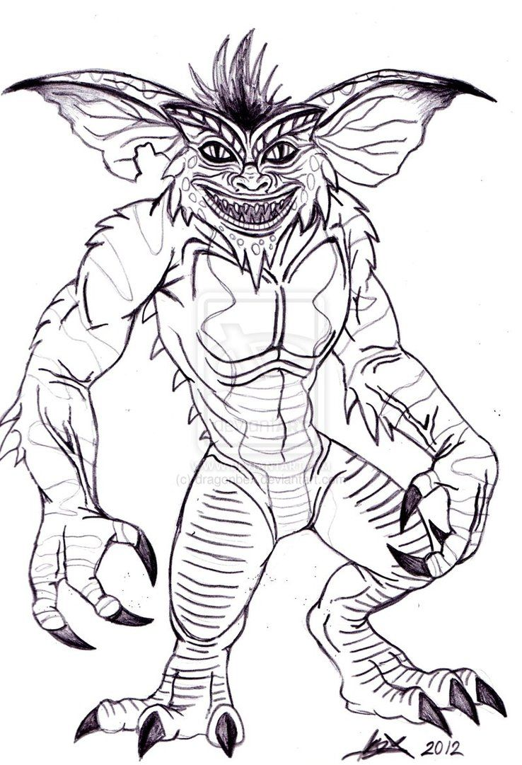 Gremlins Coloring Pages Bing Images Coloring Pages For Me My