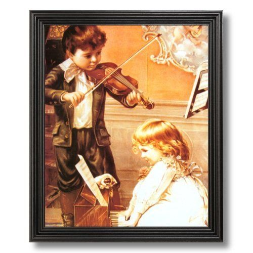 Solid Wood Black Framed Victorian Boy Girl Piano Wall Decor Contemporary Pictures Art Print by Art Prints Inc, http://www.amazon.com/dp/B003YH2QL2/ref=cm_sw_r_pi_dp_KyL4pb0A633QT