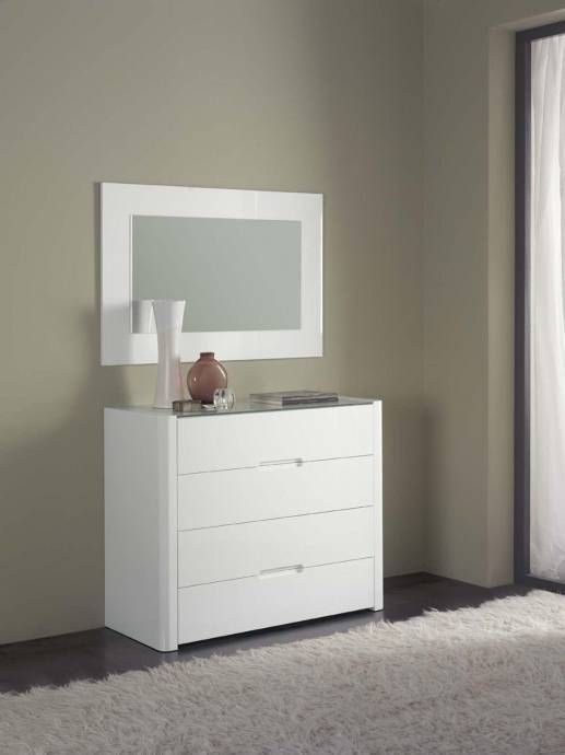 ESF 629 Adriana Contemporary Luxury White Leather King Size Bedroom