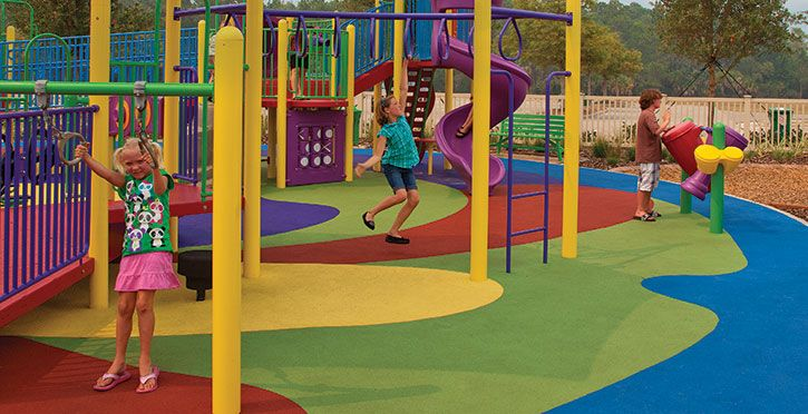 Poured Rubber Playground Surfacing Gametime